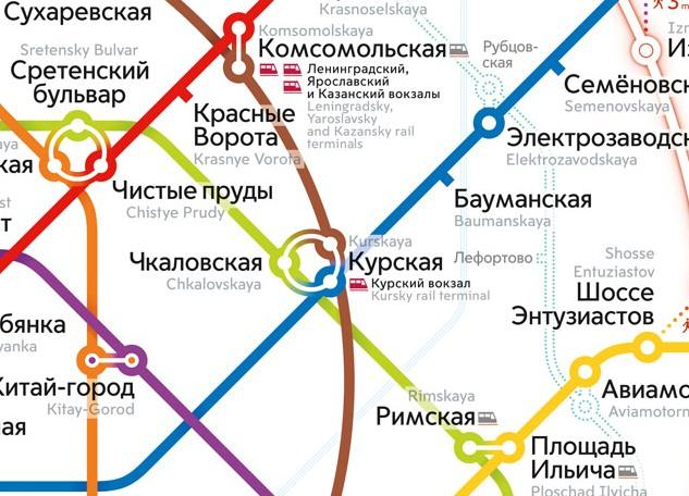 Kurskij Vokzal Na Karte Moskvy
